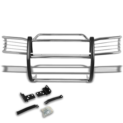 Chrome Mild Steel Front Bumper Brush Grill Guard For Nissan 96-04 Pathfinder R50-Exterior-BuildFastCar