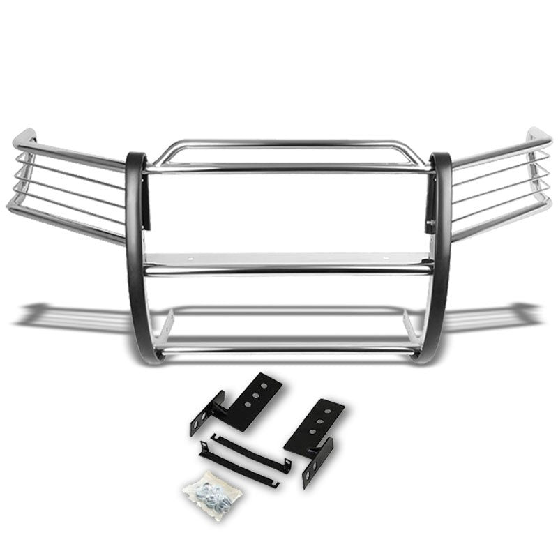 Chrome Mild Steel Front Bumper Grill Protection Guard For Toyota 01-07 Sequoia-Exterior-BuildFastCar