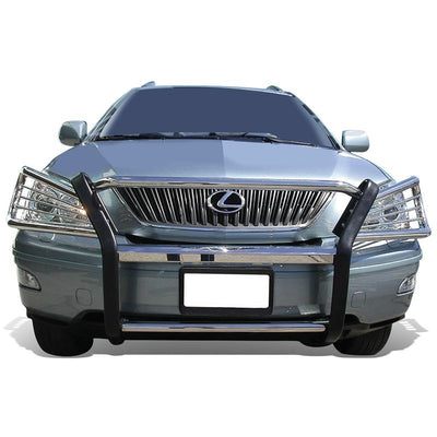 Chrome Mild Steel Front Bumper Brush Grill Guard For Lexus 04-09 RX330/350/400h-Exterior-BuildFastCar