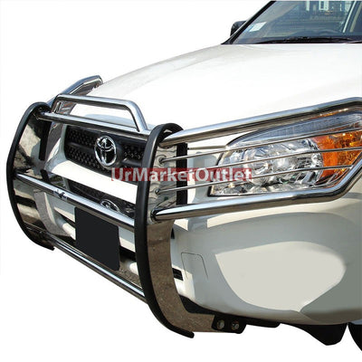 Chrome Mild Steel Front Bumper Grill Protection Guard For Toyota 06-12 RAV4 XA30-Exterior-BuildFastCar