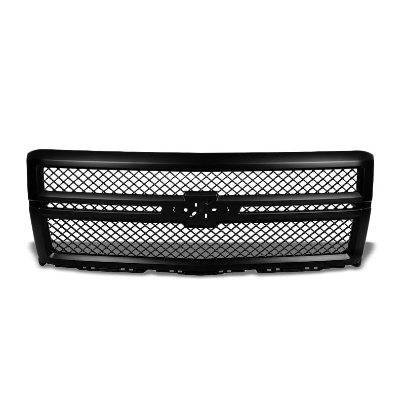 Black Diamond Mesh Style Front Grille For 14-15 Silverado 1500 4.3L/5.3L/6.2L-Exterior-BuildFastCar
