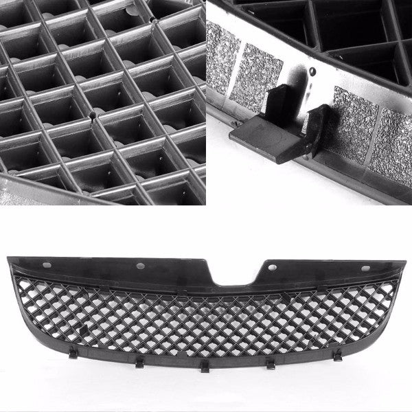 Black Diamond Mesh Style Front Grille For 97-99 Malibu Base/LS Sedan 2.4L/3.1L-Exterior-BuildFastCar