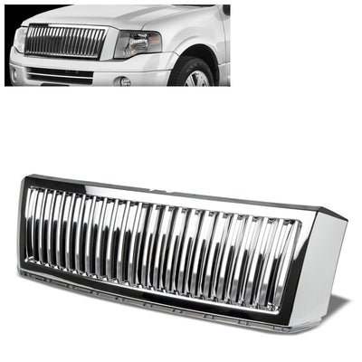 Chrome Vertical Style Replacement Grille For 07-14 Expedition U324 5.4L V8 SOHC-Exterior-BuildFastCar