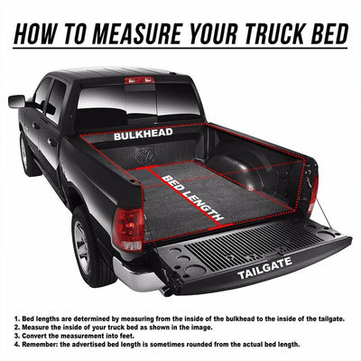 Black Soft Top Tri-Fold Tonneau Trunk Cover For 04-14 F-150 5.5' Fleet Side Bed-Exterior-BuildFastCar