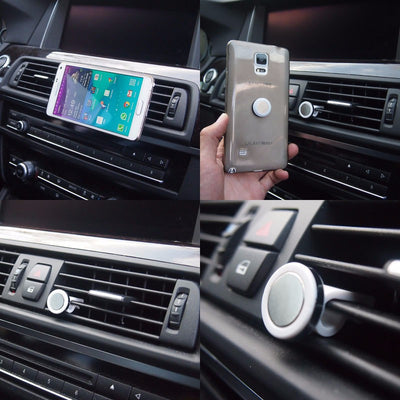 White Universal Car Air Vent Magnetic Mount Holder Stand For Phone/Mobile-Accessories-BuildFastCar