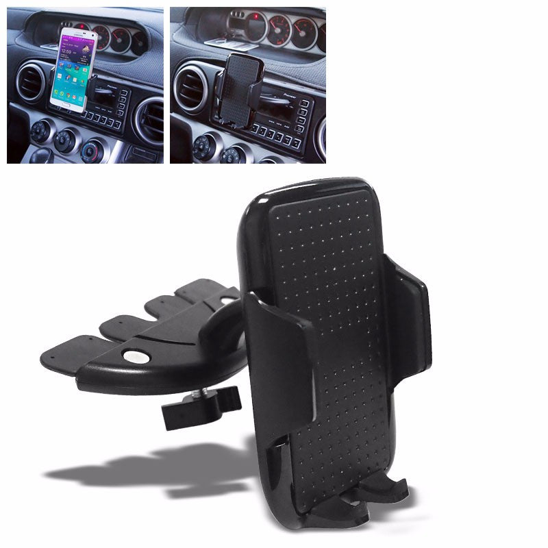 Black Universal CD Slot Tray Car/SUV/Truck 360 Mount Holder For Mobile/Phone-Accessories-BuildFastCar