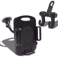 "Black Universal Car/SUV 7"" Long Arm Windshield 360 Rotating Tablet Mount Holder Cradle+Bag Hanger-Accessories-BuildFastCar"