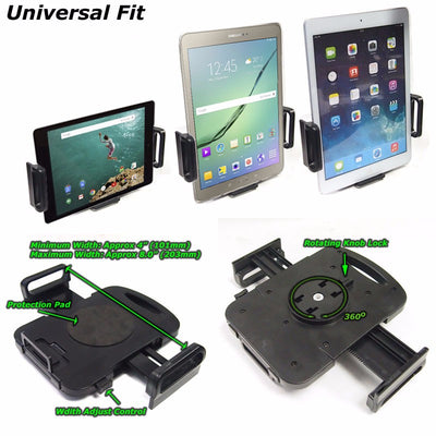 "Black Universal Car/SUV 7""Long Arm Windshield 360 Rotating Tablet Mount Holder Cradle-Accessories-BuildFastCar"