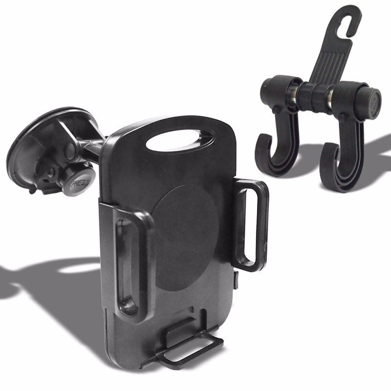 "Black Universal Car/Truck 3.5"" Suction Cup Windshield 360 Tablet Mount Holder Cradle+Bag Hanger Hook-Accessories-BuildFastCar"
