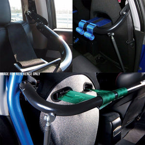"Blue Mild Steel 49"" Racing Safety Chassis Seat Belt Harness Bar/Across Tie Rod+Support Rod-Interior-BuildFastCar"