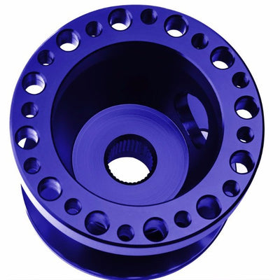 Blue Aluminum 6-Hole Steering Wheel Hub Adapter For 92-95 Integra DC2/Civic EG EH EJ-Interior-BuildFastCar