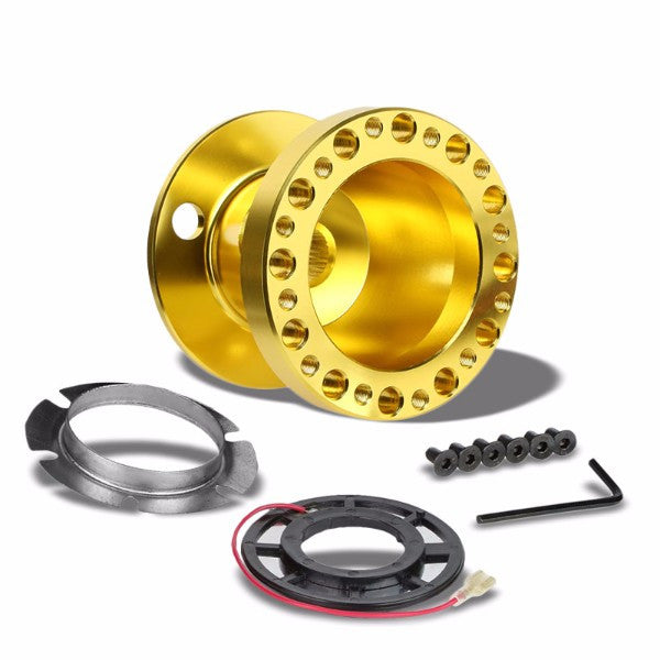 Gold Aluminum 6-Hole Steering Wheel Hub Adapter For 92-95 Integra DC2/Civic EG EH EJ-Interior-BuildFastCar