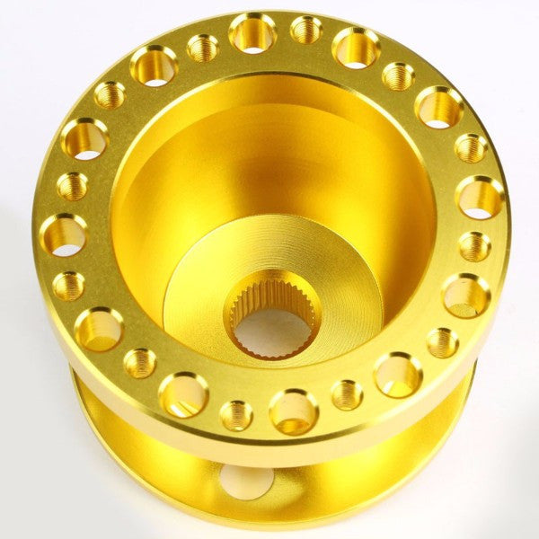 Gold Aluminum 6-Hole Steering Wheel Hub Adapter For 626/RX7/RX8/Miata/Accent/Genesis-Interior-BuildFastCar