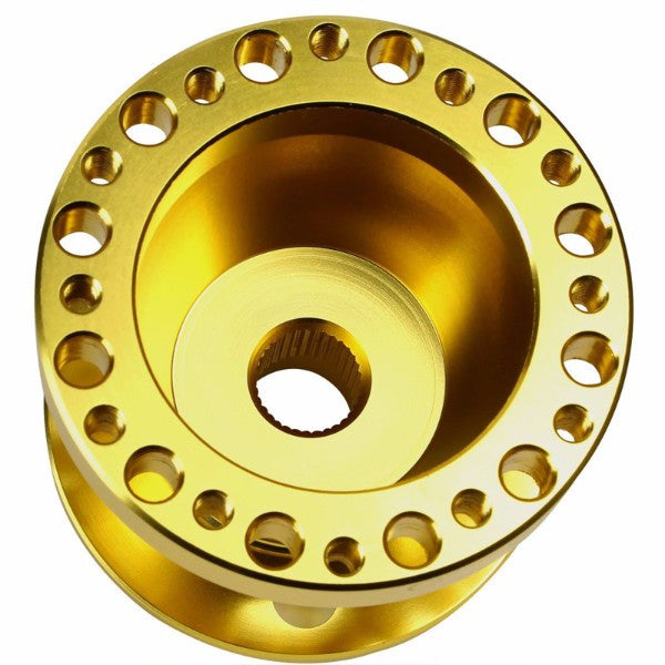 Gold Aluminum 6-Hole Steering Wheel Hub Adapter For Toyota/Scion MR2/Corolla/AE86/tC-Interior-BuildFastCar