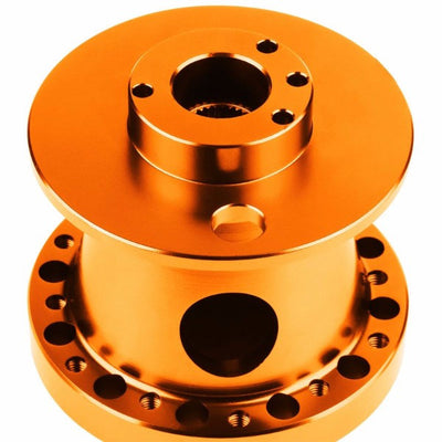 Orange Aluminum 6-Hole Steering Wheel Hub Adapter For Toyota/Scion MR2/Corolla/AE86/tC-Interior-BuildFastCar