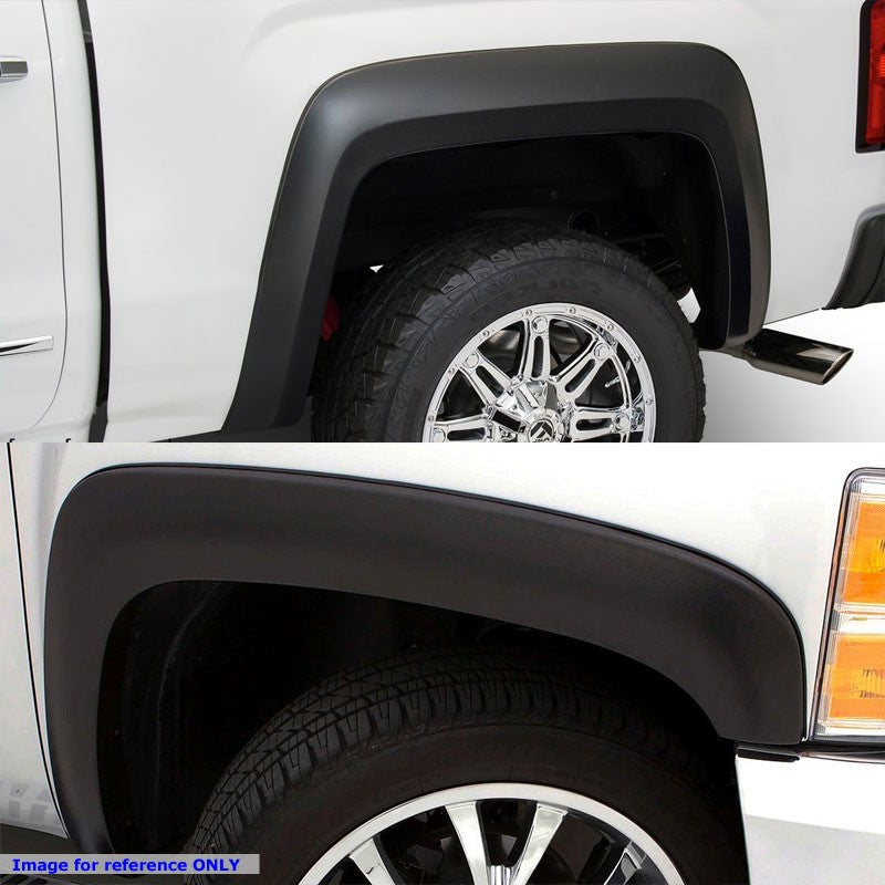 "Matte Black ABS OE Style Wheel Fender Flares For 99-06 Sierra 1500 68.4""-96"" Bed-Exterior-BuildFastCar"