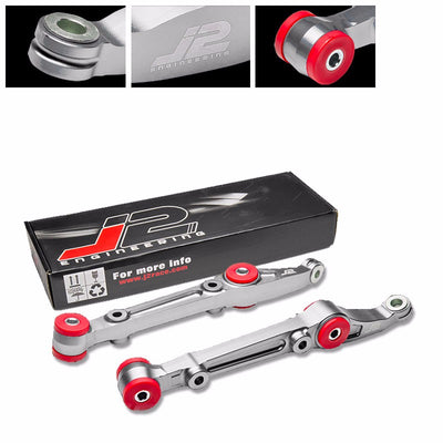 J2 Silver Aluminum Front Lower Control Bar Suspension For Honda 92-00 Civic-Suspension-BuildFastCar