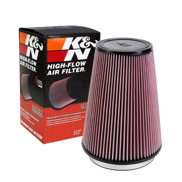 "K&N 6"" 153mm Universal Rubber Cotton Gauze Cone Round Tapered Air Filter RU-3280-Performance-BuildFastCar"