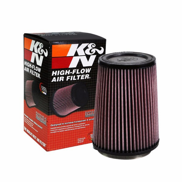 "K&N 3.75"" 96mm Universal Rubber Cotton Gauze Cone Round Tapered Air Filter RU-3530-Performance-BuildFastCar"