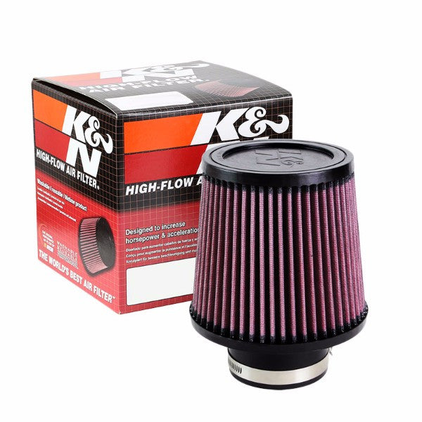 "K&N 3"" 76 mm Universal Rubber Cotton Gauze Cone Round Tapered Air Filter RU-4990-Performance-BuildFastCar"