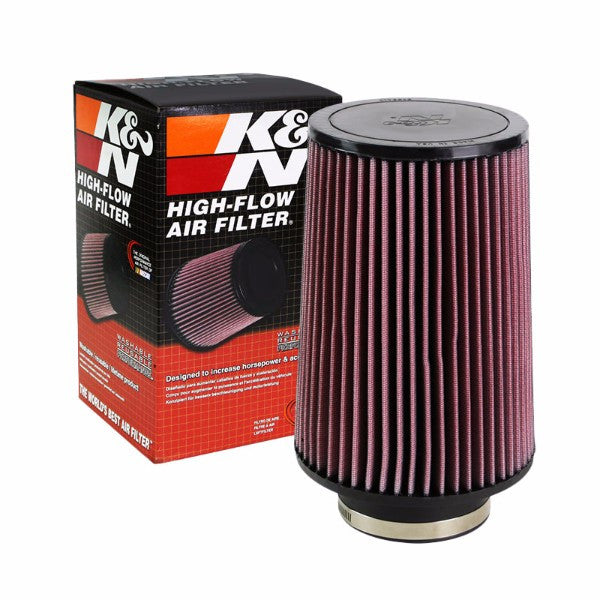 "K&N 4"" 102mm Universal Rubber Cotton Gauze Cone Round Tapered Air Filter RU-5045-Performance-BuildFastCar"