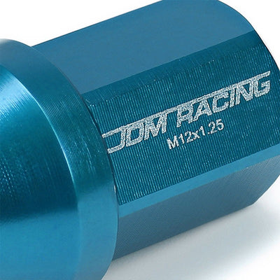 Light Blue Aluminum M12x1.25 35MM Short Close Acorn Tuner 20x Conical Lug Nuts-Accessories-BuildFastCar