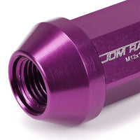 Purple Aluminum M12x1.25 35MM Short Close End Acorn Tuner 20x Conical Lug Nuts-Accessories-BuildFastCar
