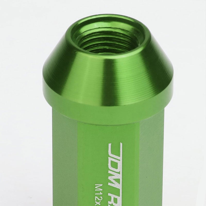 Green Aluminum M12x1.25 50MM Hexagon Close End Acorn Tuner 20x Conical Lug Nuts-Accessories-BuildFastCar