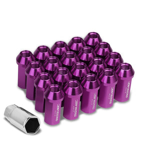 Purple Aluminum M12x1.25 50MM Hexagon Close End Acorn Tuner 20x Conical Lug Nuts-Accessories-BuildFastCar