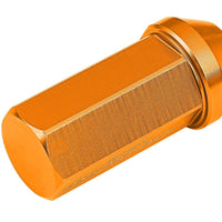 Orange Aluminum M12x1.50 50MM Hexagon Close End Acorn Tuner 20x Conical Lug Nuts-Accessories-BuildFastCar