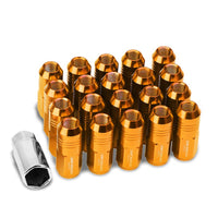 Orange Aluminum M12x1.25 50MM Tall Close End Acorn Tuner 20x Conical Lug Nuts-Accessories-BuildFastCar