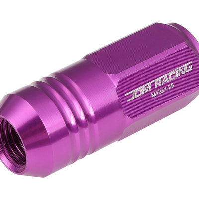 Purple Aluminum M12x1.25 50MM Tall Close End Acorn Tuner 20x Conical Lug Nuts-Accessories-BuildFastCar