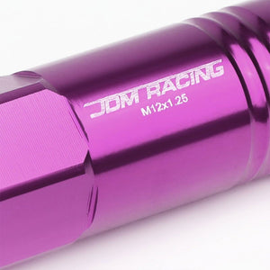 Purple Aluminum M12x1.25 60MM Hexagon Open End Acorn Tuner 20x Conical Lug Nuts-Accessories-BuildFastCar