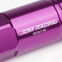 Purple Aluminum M12x1.50 60MM Hexagon Open End Acorn Tuner 20x Conical Lug Nuts-Accessories-BuildFastCar
