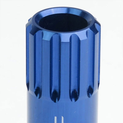 Blue Aluminum M12x1.25 Conical Open End Acorn Tuner 16x Lug Nuts+4 Lock Nuts-Accessories-BuildFastCar