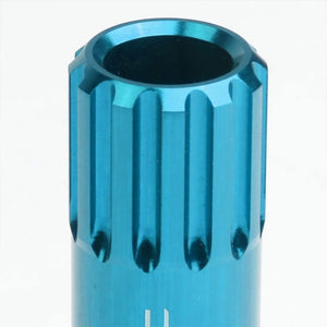 Light Blue Aluminum M12x1.25 Conical Open Acorn Tuner 16x Lug Nuts+4 Lock Nuts-Accessories-BuildFastCar