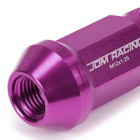 Purple Aluminum M12x1.25 25MM OD Open Knurl Top Acorn Tuner 20x Conical Lug Nuts-Accessories-BuildFastCar