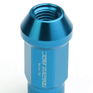 Light Blue Aluminum M12x1.50 25MM OD Open Knurl Acorn Tuner 20x Conical Lug Nuts-Accessories-BuildFastCar