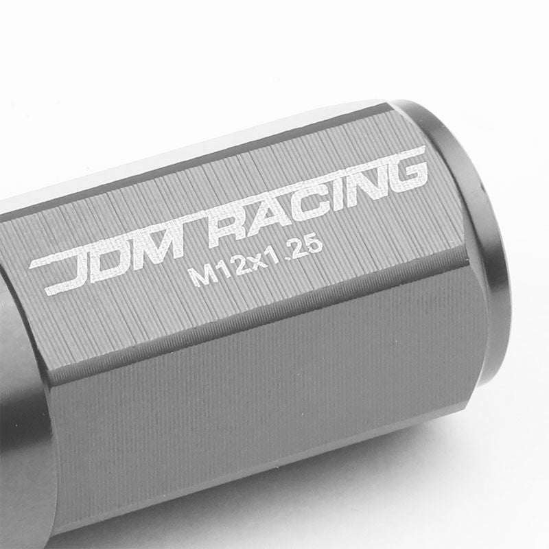 Gunmetal M12x1.25 23MM Open/Close Dual Thread Acorn Tuner 20x Conical Lug Nuts-Accessories-BuildFastCar