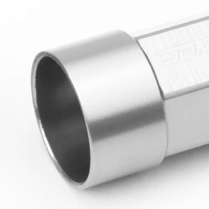 Silver M12x1.25 23MM OD Open/Close Dual Thread Acorn Tuner 20x Conical Lug Nuts-Accessories-BuildFastCar