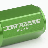 Green M12x1.50 23MM OD Open/Close Dual Thread Acorn Tuner 20x Conical Lug Nuts-Accessories-BuildFastCar