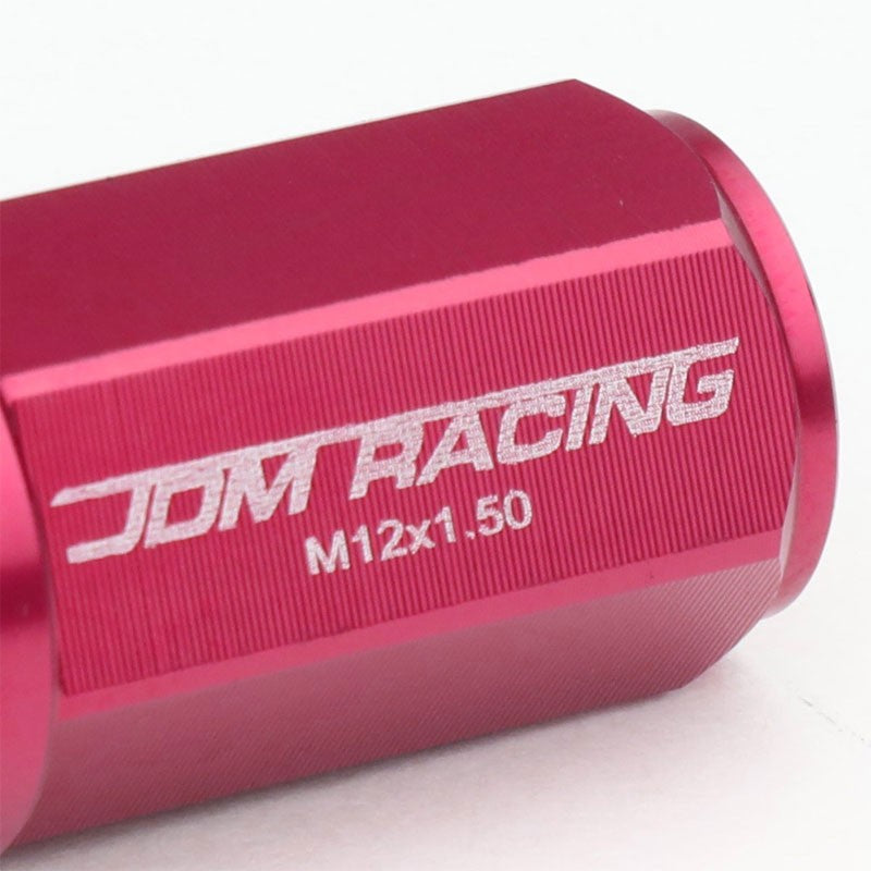 Pink M12x1.50 23MM OD Open/Close Dual Thread Acorn Tuner 20x Conical Lug Nuts-Accessories-BuildFastCar