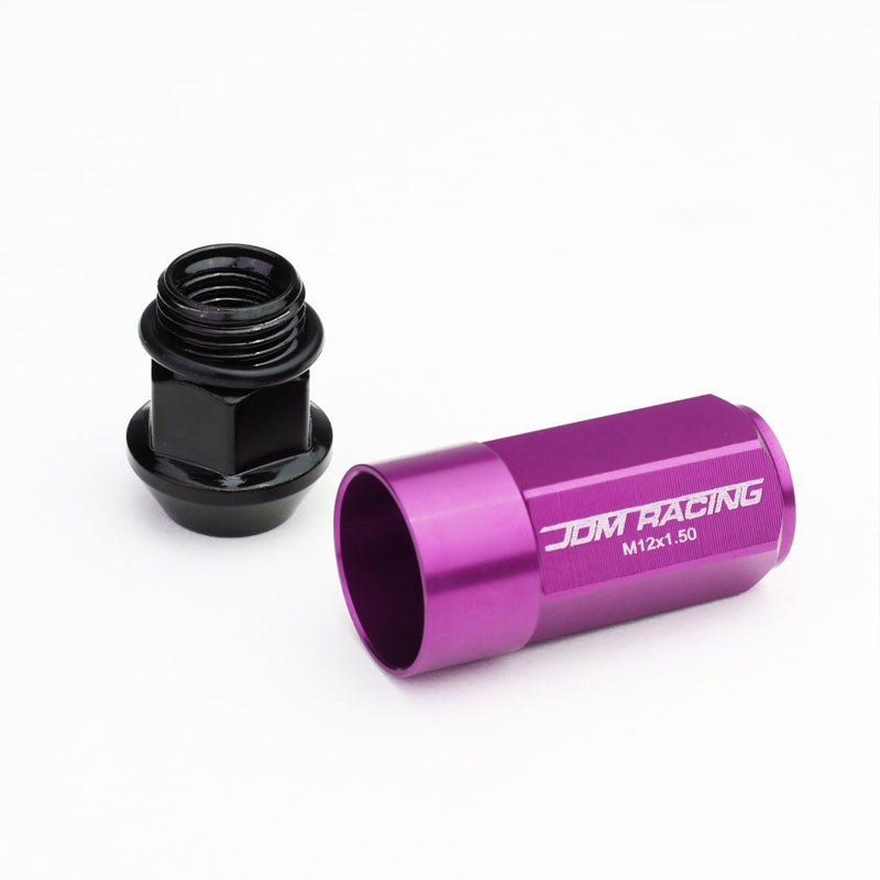 Purple M12x1.50 23MM OD Open/Close Dual Thread Acorn Tuner 20x Conical Lug Nuts-Accessories-BuildFastCar