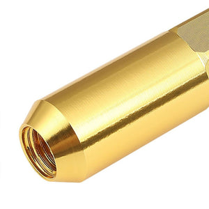 Gold Aluminum M12x1.50 Open/Close End Acorn Tuner+Spike Cap 20x Conical Lug Nuts-Accessories-BuildFastCar