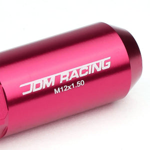 Pink M12x1.50 Open/Close End Acorn Tuner+Hex Spike Cap 20x Conical Lug Nuts-Accessories-BuildFastCar