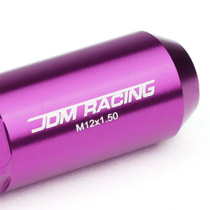 Purple M12x1.50 Open/Close End Acorn Tuner+Hex Spike Cap 20x Conical Lug Nuts-Accessories-BuildFastCar