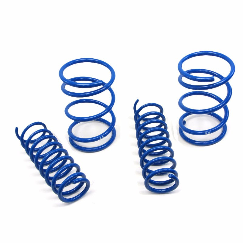 "Blue 1"" Drop Manzo Race Sport Lowering Spring For 07-12 Lancer Base/DE/ES/GTS-Suspension-BuildFastCar"