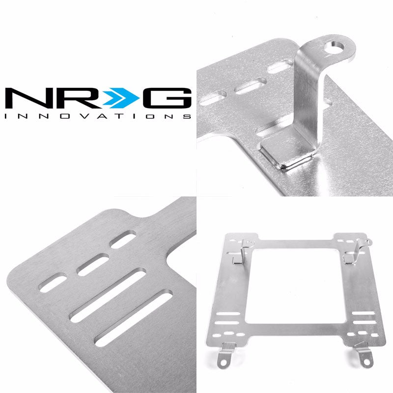 2x NRG Mild Steel Racing Seat Mount Bracket Adapter For 82-92 Firebird/Trans AM-Seats-BuildFastCar