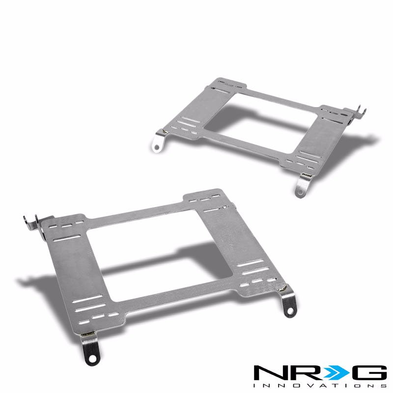 2x NRG Mild Steel Racing Seat Mount Bracket Adapter For Honda 98-02 Accord-Seats-BuildFastCar
