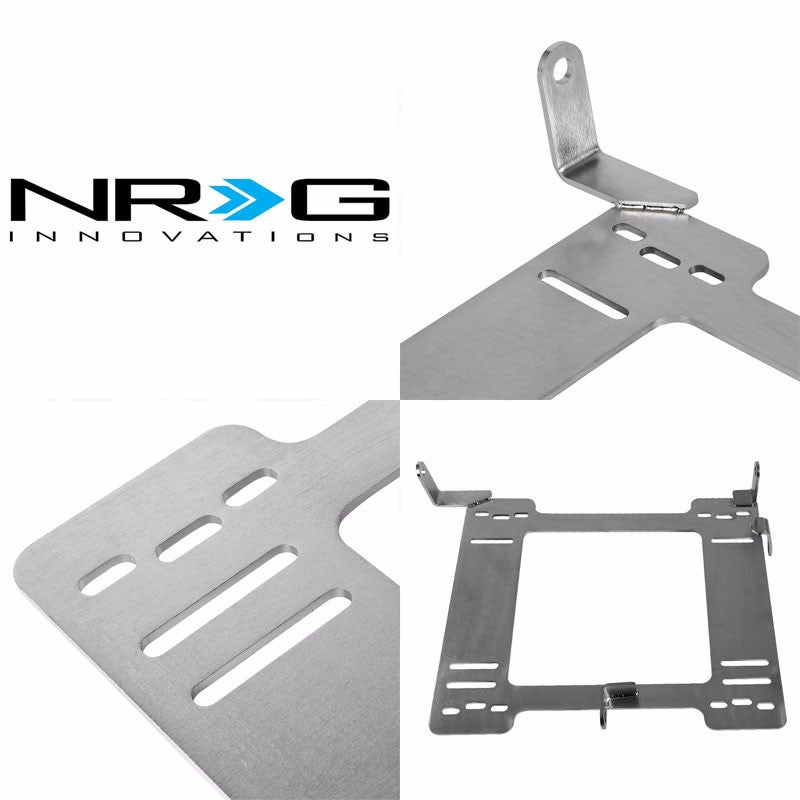 2x NRG Mild Steel Racing Seat Mount Bracket Adapter For VW 93-98 Golf/Jetta MK3-Seats-BuildFastCar